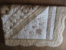 Tagesdecke Quilt  Überwurf  Baumwolle Patchwork plastisch von Pro-Idee
