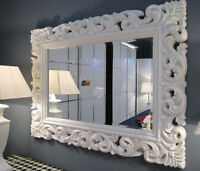 Grande Barroco Espejo de pared Ornamento 70x90 pie Blanco pasillo