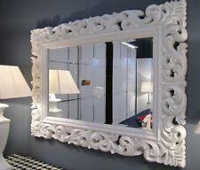 Großer Barock Wandspiegel Ornament 120x90 Standspiegel Spiegel Weiss Flurspiegel