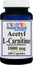 Acetyl L-Carnitine Free Form 1000mg 200 Capsules