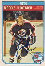 Morris Lukowich Signed card O-Pee-Chee 82-83 COA 4/13