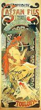 Cassan Fils Toulouse Nude Alphonse Mucha Reproduction Art Nouveau Poster Print