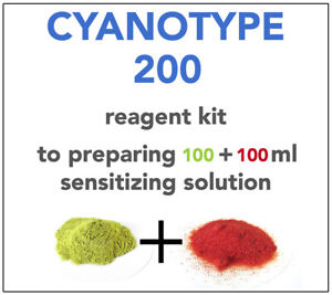 CYANOTYPE REAGENT KIT(for 100+100ml) ALL YOU NEED TO SENSITIZE 50+ A4 SHEETS