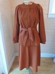 VTG 1950's Vogue Couturier Design Pendleton Wool Skirt Suit sz XS Handmade EUC