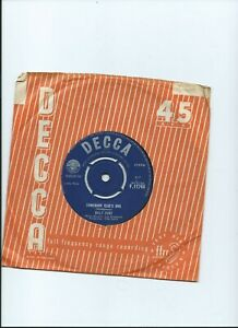 BILLY FURY 45 Somebody Else's Girl Decca 1963