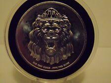1 oz 2020 ROARING LION SILVER ROUND FINE 999% PURE SILVER BU