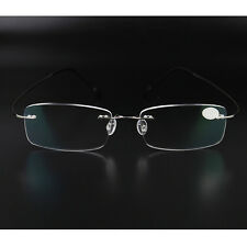ea0ed4f385 Rimless Glasses Men Rx Optical Eyeglasses Memory Titanium Spectacles Frame  NEW