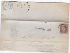 1848 dudeston Row SUB PO Birmingham = 75 = J? Legno Lettera A Wednesbury QUADRI