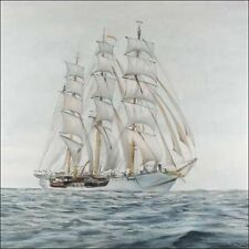 Atelier B: sailingboat marcos de cuña-imagen lienzo velero windjammer marítimo