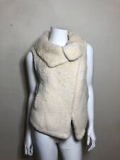Calypso St. Barth Cream Knitted Fur Vest Size S