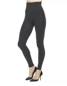 New With Tags SPANX ASSETS PONTE Slimming Seamed Pipeline Leggings, Black, XL