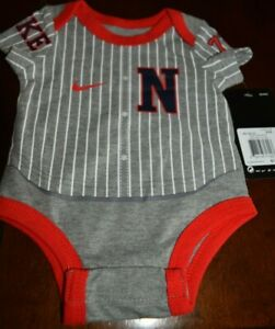 NWT! Coverall NIKE baseball dark gray/grey heather w/red 0-3M