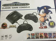 Sega Mega Drive Classic Console - 81 Built-in Games 2 Controllers - With Box
