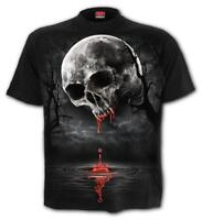 Spiral Direct DEATH MOON UNISEX T-Shirt Gothic/Metal/Vampire/Top/Skulls/Blood