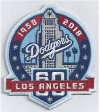 LOS ANGELES DODGERS PATCH 60TH ANNIVERSARY TEAM STYLE JERSEY LA WORLD SERIES
