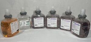Lot of 6 Gojo 5361, 5362, 5665 Foam Hand Soap Refill Cartridges 1200 ml Each