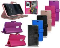 Per Nokia 8 TA-1012 Nuovo Originale Nero Blu Pelle Portafoglio Telefono Case +