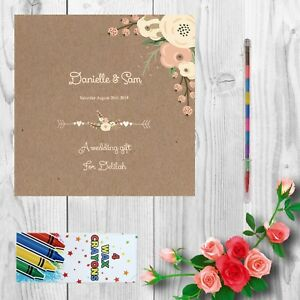 Personalised Childrens Kids Wedding Activity Pack Book Favour 6x6inch AAB27