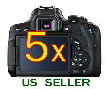 5x Canon EOS 750D Rebel T6i Camera Clear LCD Screen Protector Guard Shield Film