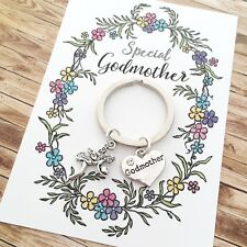 Special Godmother fairy charm keyring gift