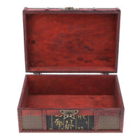 Handmade Chinese Vintage Style Wooden Jewelry Box Ring Earring Storage Box
