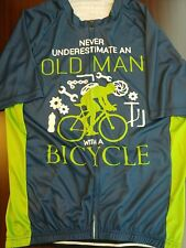 New ListingCycling Jersey - Never Underestimate An Old Man With A Bicycle Xl