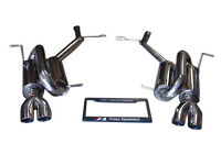 Mercedes Benz R171 SLK280 SLK350 05-11 Axle Back Exhaust Systems Quad Tips