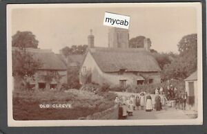 Postcard Old Cleeve nr Watchet Somerset early village RP by Bert Hole