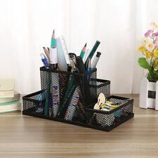 Nice Mesh Style Pen Pencil Ruler Holder Desk School Office Stationery Organizer