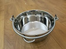 Stainless Steel Maslin 8L Jam Pan Cooking Preserve Pot Large Saucepan Chutney