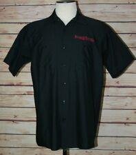 King Kerosin Speedfreak Black Button Up Shirt Men's Size Large Red Kap  EUC