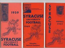 SYRACUSE FOOTBALL MEDIA GUIDES FROM 1959,60,61   ERNIE DAVIS   AMAZING CONDITION