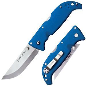 """Cold Steel Finn Wolf AUS 8A Plain Blade 4.375"""" Long Griv-Ex Blue Handle 20NPG"""