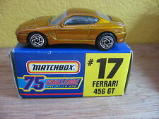 1/64 MATCHBOX 75 GOLDEN CHALLENGE FERRARI 456 GT #17 ECHELLE DU MODELE 1/61