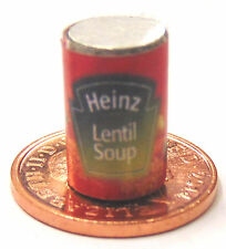 1:12 Scale Empty Lentil Soup Tin Dolls House Kitchen Food Can Accessory