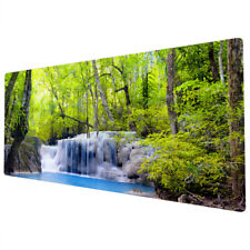 90x40cm Extra Large Xxl Mouse Pad Mat Full Desk Blue Green Forest Waterfall