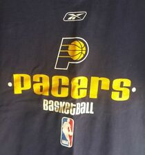 Indiana Pacers Basketball Navy Blue Shirt Top Adult Medium Used Nice