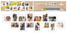 Bilderrahmen XXL für 14 Fotos - Fotorahmen groß in weiß - Collage Foto Galerie