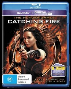 Hunger Games Catching Fire BLU RAY 2 discs-2014) Rare Holographic Insert REG B