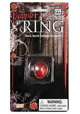 VAMPIRE BLOOD RED RUBY RING JEWELRY ONE SIZE DRACULA HALLOWEEN COSTUME ACCESSORY