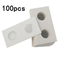 100Pcs Cardboard Coin Protection Storage Holders Collection Paper Clip Film 40MM