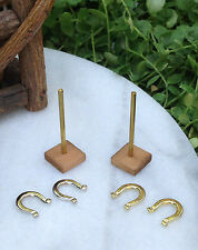 Miniature Dollhouse Fairy Garden Accessories ~ Tiny Horseshoes Set ~ New
