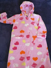 Girls Size 5 Dressing Gown Hi 5 Warm Winter Hooded NEW Has HI 5 Hand as Buttons