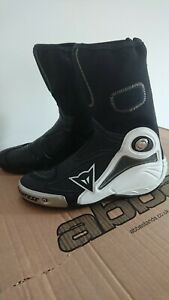 Dainese Axial D1 Boots Black White Race Motorcycle