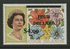 Cook Islands 1970 $4 on $8 Surcharge SG 335 Mnh.