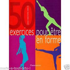 Livre de 50 exercices pour rester en forme AU BUREAU gym sport muscu facile