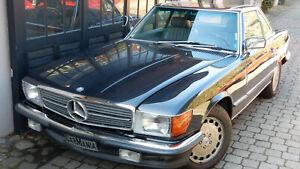 Chrom Stoßstangen Mercedes W107 280 - 560 SL, SLC Mehrschichtchrom auf Edelstahl