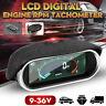 Car Universal LCD 50-9999RPM Tachometer Digital Engine Tach Gauge Boat Truck LFI