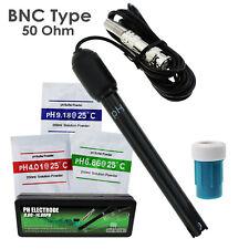 pH Electrode 0-14pH BNC Connector Probe Replacement Kit for Aquarium Hydroponics