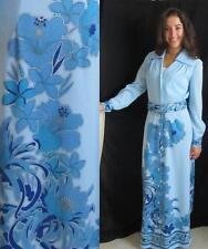 Mod Hawaiian Maxi Dress, Alfred Shaheen, Flower Power, Vintage 70s